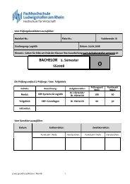 BACHELOR 5. Semester SS2008 - Hochschule Ludwigshafen am ...