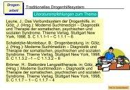 Traditionelles Drogenhilfesystem Literaturempfehlungen zum ...