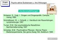Psycho-aktive Substanzen u. ihre Wirkungen Scheerer, S., Vogt, I ...