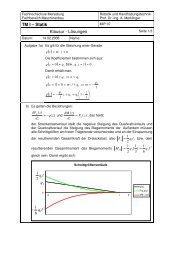 TM I – Statik Klausur - Lösungen