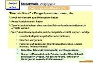 Streetwork: Zielgruppen Zielgruppe von Streetwork: