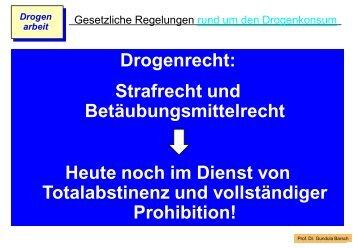 Strafvorschriften des Betäubungsmittelgesetzes