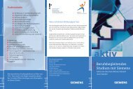 Berufsbegleitendes Studium mit Siemens - Fachhochschule ...