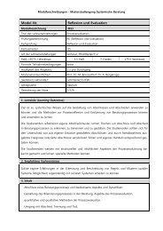 Modul-Nr. Reflexion und Evaluation