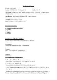 10. öffentliche Sitzung Datum: 17. Mai 2013 Beginn: 18:30 Uhr/ 19 ...
