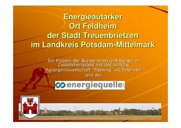 Erfahrungen bei der Umsetzung des Zieles der Energie
