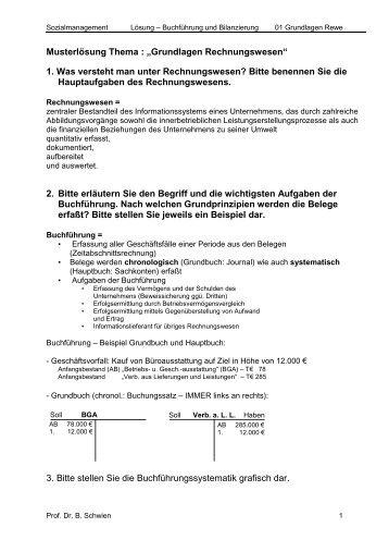 """Musterlösung Thema : """"Grundlagen Rechnungswesen"""" 1. Was ..."""