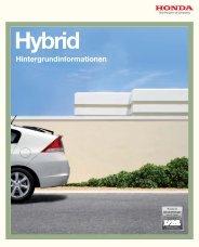 Hybrid Hintergrundinformationen - Honda
