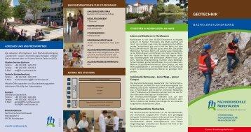GEOTECHNIK - Fachhochschule Nordhausen