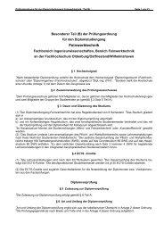 Prüfungsordnung - Fachhochschule Oldenburg/Ostfriesland ...
