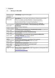 1. Programm 1.1. Montag 12. März 2008 09:00-09:15 Uhr ...
