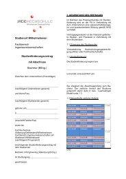 Studienförderung - Fachhochschule Oldenburg/Ostfriesland ...