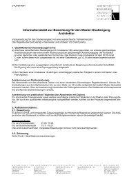 Informationsblatt zur Bewerbung für den Master-Studiengang ...