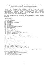 Prüfungsordnung für den Studiengang Wirtschaftsinformatik ...