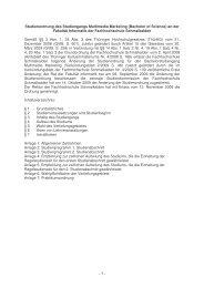 Studienordnung des Studiengangs Multimedia Marketing (Bachelor ...