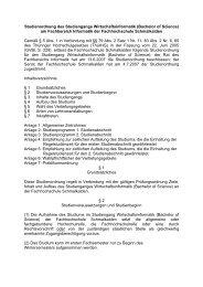 Bachelor of Science - Fachhochschule Schmalkalden