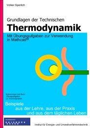 Grundlagen der Technischen Thermodynamik mit ... - bei Duepublico