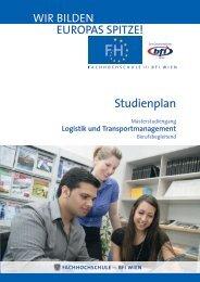 Studienplan LOGT MA - FH des BFI Wien