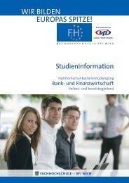 Studieninformation BAFI BA (PDF, 885,82 kB) - FH des BFI Wien