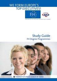 Study Guide - Fachhochschule des bfi Wien