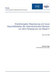 Kreditvergabe, Bepreisung und neue ... - FH des BFI Wien