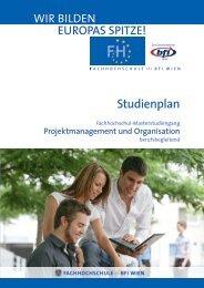 Studienplan PORG MA (PDF, 379,17 kB) - Fachhochschule des bfi ...