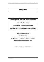 Aufnahmeskriptum LOGT BWL (PDF, 215,44 kB) - Fachhochschule ...