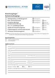 Bewerbungsbogen BA (PDF, 93,33 kB) - FH des BFI Wien