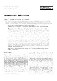 Tilt modulus of a lipid monolayer - The Fritz Haber Center for ...