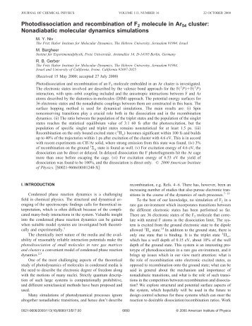 JCP, v113, 2000, p.6660 - The Fritz Haber Center for Molecular ...