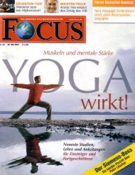 Focus: Yoga wirkt - Institut für Business Yoga Berlin