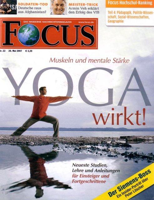 Focus: Yoga wirkt - Institut für Business Yoga Berlin