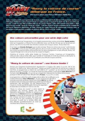 """""""Roary la voiture de course"""" débarque en France. - fhcom"""