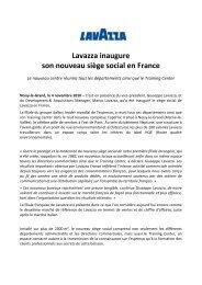 Inauguration du nouveau siège social Lavazza - fhcom