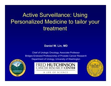 Active Surveillance - Fred Hutchinson Cancer Research Center