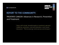 PROSTATE CANCER: Advances in Research, Preven on and ...