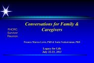 Conversations for Family & Caregivers