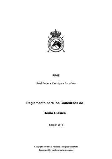 Reglamento Doma Clásica 2012 - Federación Hípica de Madrid