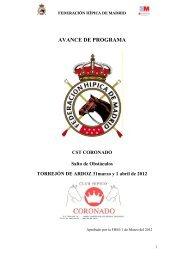CST CORONADO 31 de marzo y 1 de abril 2012 - Federación ...