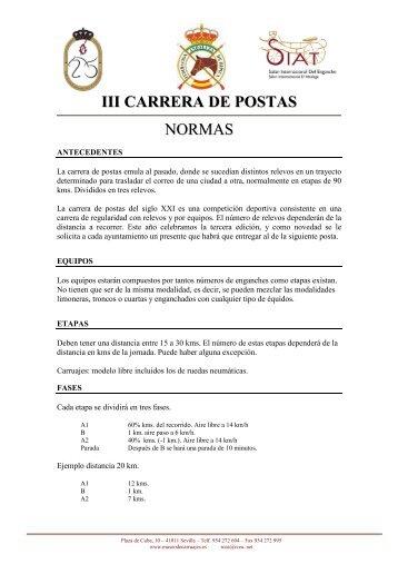 NORMAS III CARRERAS DE POSTAS 09