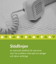 Stödlinjen - Statens folkhälsoinstitut