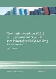 Gammabutyrolakton (GBL) och 1,4-butandiol (1,4-BD) - Statens ...