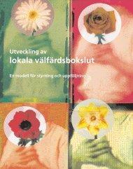 Utveckling av Lokala välfärdsbokslut (VFB) - Statens folkhälsoinstitut