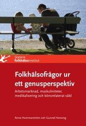 Folkhälsofrågor ur ett genusperspektiv - Statens folkhälsoinstitut