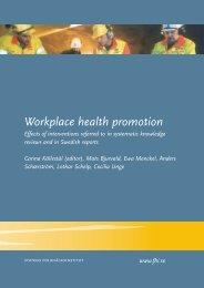Workplace health promotion - Statens folkhälsoinstitut