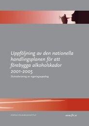Uppföljning av den nationella handlingsplanen för att förebygga ...