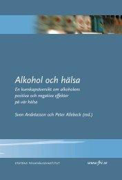 Alkohol och hälsa - Statens folkhälsoinstitut