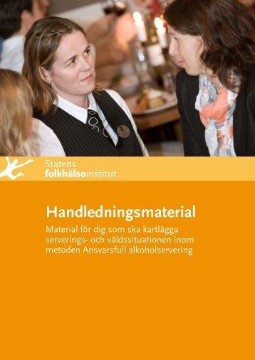 Handledning i kartläggningsarbete - Statens folkhälsoinstitut