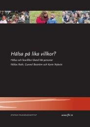 Hälsa och livsvillkor bland HBT-personer - Statens folkhälsoinstitut