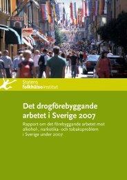 Det drogförebyggande arbetet i Sverige 2007, 3.45 MB - Statens ...